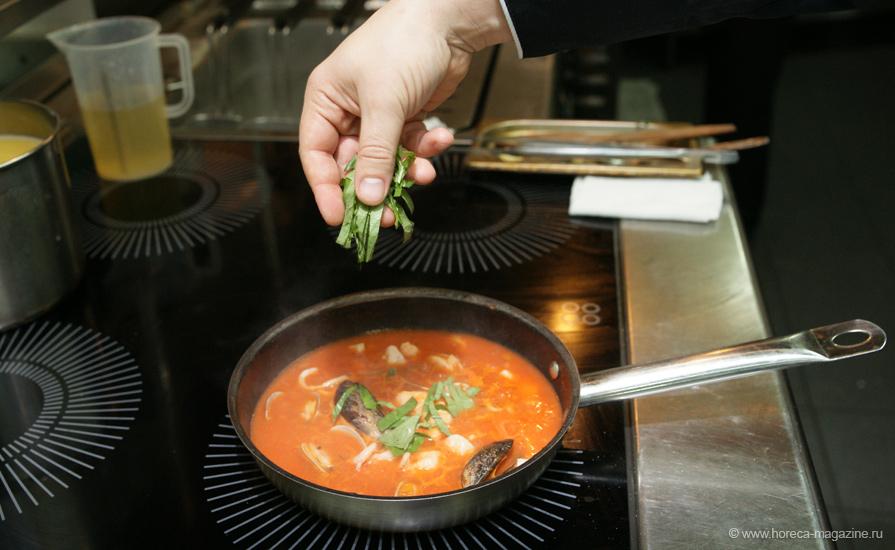 рецепты томатного супа с морепродуктами